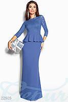 Вечернее платье с баской Gepur 22605