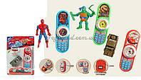 Мобильный телефон обучающий игрушка 222/555/888 батар , на планшетке