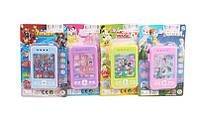 Мобильный телефон обучающий игрушка 8105 батар , 4 вида, на планшетке 18*11*2см