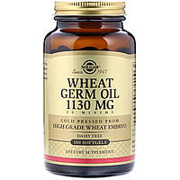 Масло зародышей пшеницы, Wheat Germ Oil, Solgar, 100 капсул