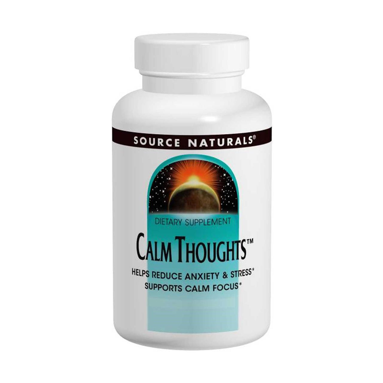 Підтримка нервової системи, Calm Thoughts, Source Naturals, 90 табл.