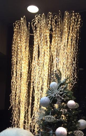 Уличная Гирлянда Конский Хвост (Дреды) 500 LED Тепло-Белая, для помещений и для улицы: пучок 25 линий по 2,м