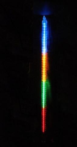 Гирлянда Метеоритный дождь «Тающие Сосульки» LED, 80 см Мульти, фото 1