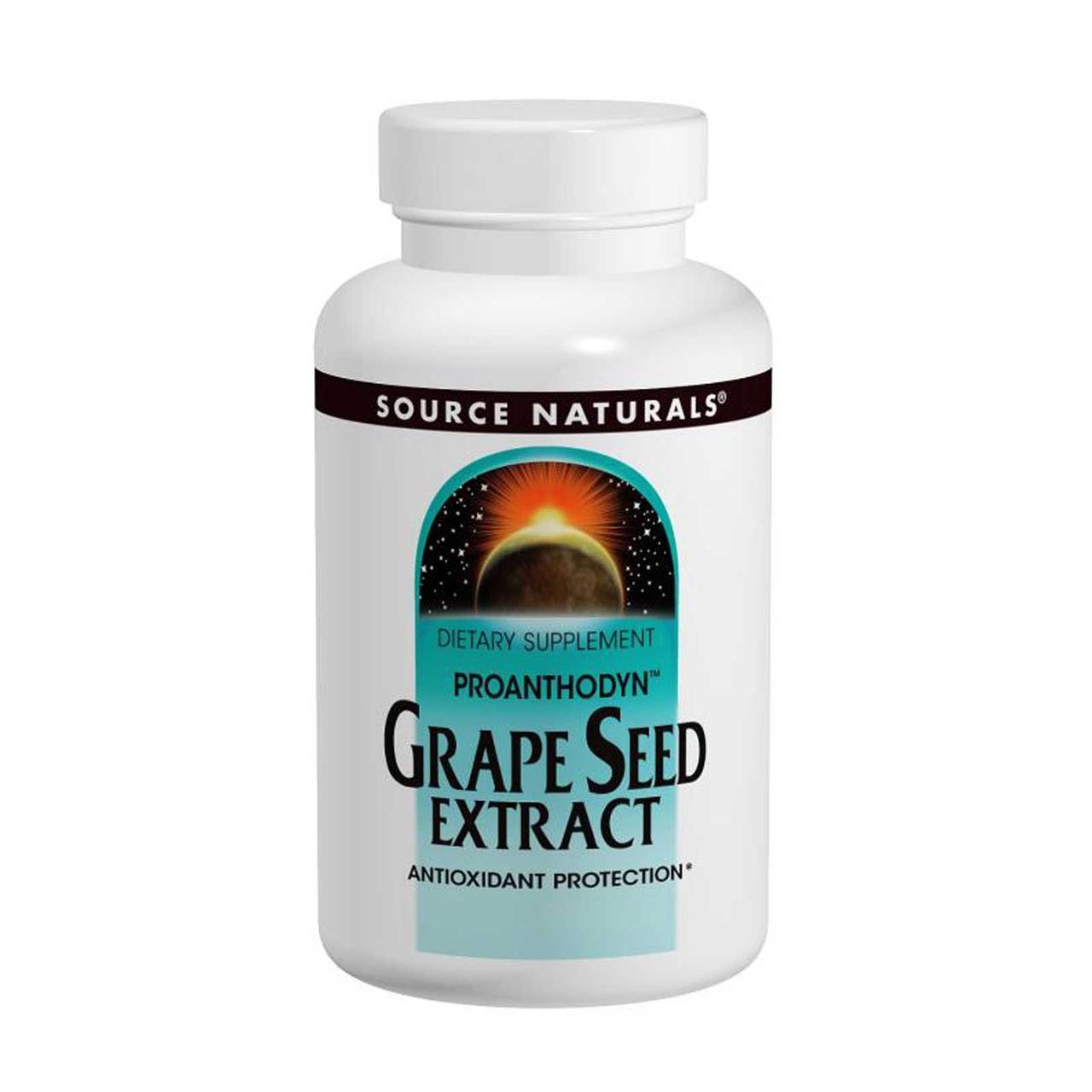 Экстракт виноградных косточек (Grape Seed), Source Naturals, 120 кап.