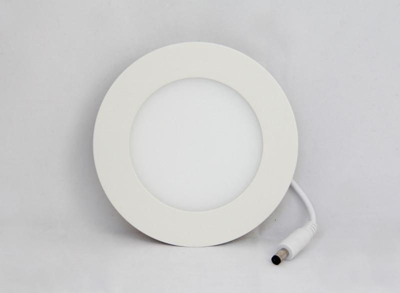 Врезной круглый светильник DownLight 6 Вт нейтральный белый круг (4500К)