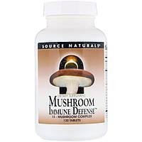 Иммунная защита, Source Naturals, грибы,120 таблеток