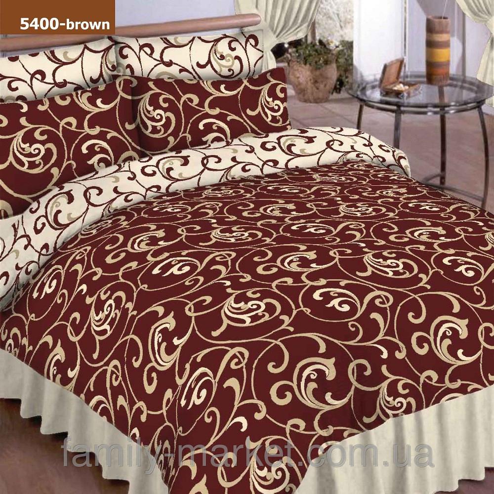 5400 кор. Семейное постельное белье ранфорс Platinum Viluta
