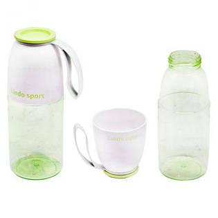 Спортивная бутылка для воды 2 в 1, 450 мл (салатовая) 8557