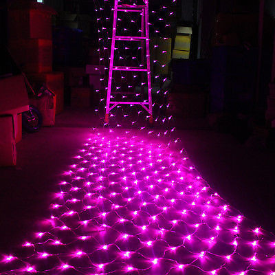 Гирлянда Сетка светодиодная — 240-LED, 3,5х0,7 м розовая, фото 1