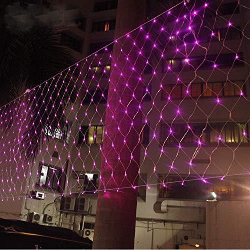 Гирлянда Сетка светодиодная — 240-LED, 2х2 м розовая, фото 1