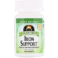 Железо хелат, Source Naturals, 180 таблеток