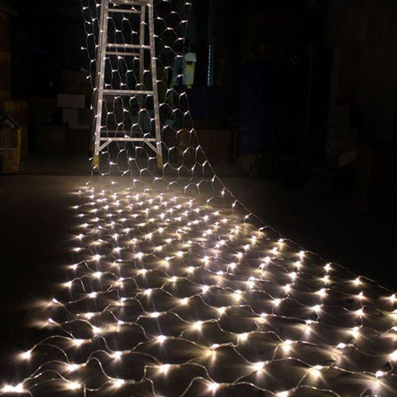 Гирлянда Сетка светодиодная — 240-LED, 3,5х 0,7 цвет белый