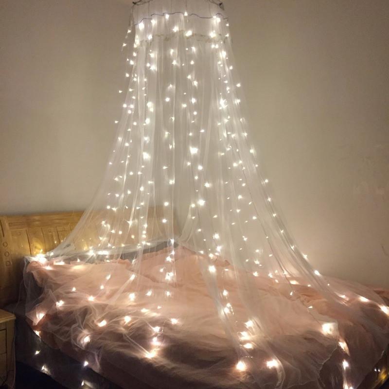 """Штора на медной проволоке """"Капля росы"""" 3х1м, 200 led цвет белый холодный, гирлянда на Новый год, фото 1"""