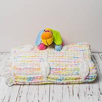 Плюшевый детский плед ручной работы 100x120 см Цветной (PL0005)