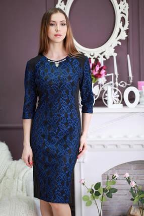 """Красивое повседневное платье """"Ажур"""", большие размеры, фото 2"""