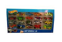 Набор машин металлическая 1605-4  20 штук в коробке 44*19*4см