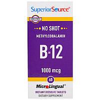 Superior Source, Метилкобаламин B-12, микротаблетки под язык, 1000 мкг, 60 мгновенно растворяющихся таблеток