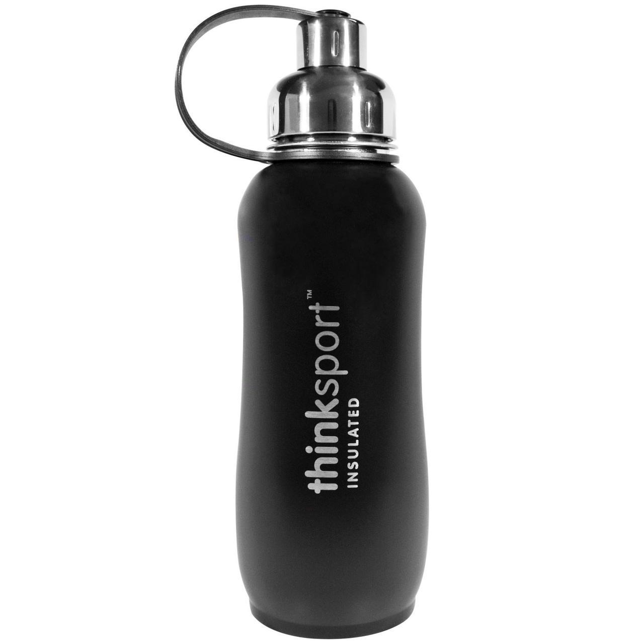 Изолированная спортивная бутылка,Sports Bottle, Черная, Think, 750 мл