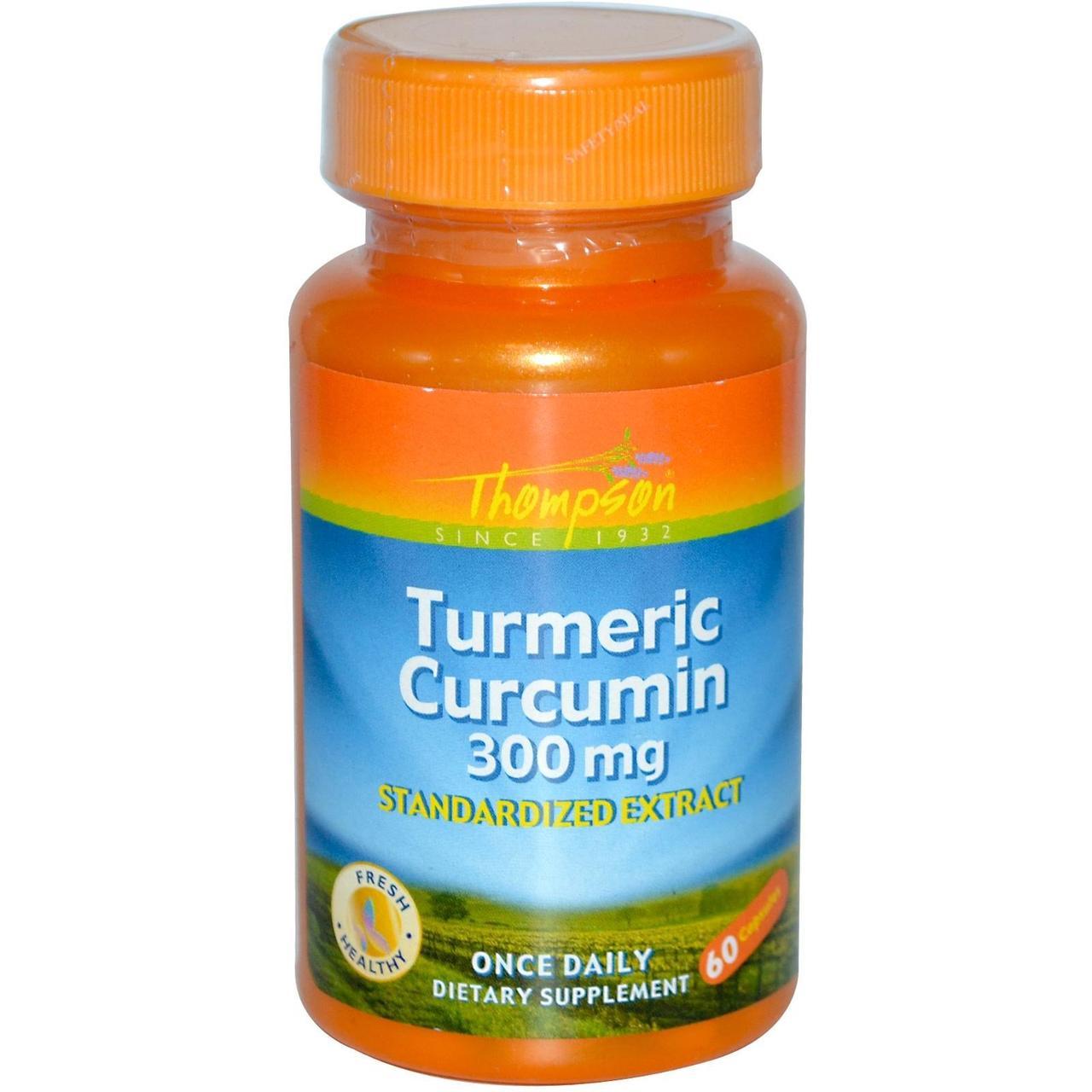 Thompson, Куркумин из куркумы, 300 мг, 60 капсул