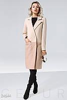 Комбинированное женское пальто Gepur 24644