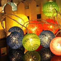 Гирлянда Тайские шарики (гирлянда тайские фонарики): 10 LED шариков, длина 2 метра