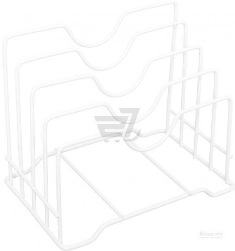 Подставка для крышек настальная белый DC