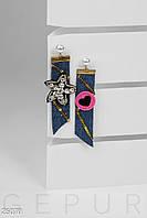 Непарные серьги-подвески Gepur 25070
