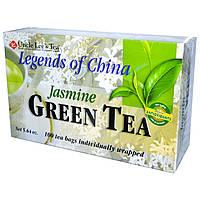 Uncle Lee's Tea, Легенды Китая, зеленый чай, с жасмином, 100 пакетиков, 5,64 унции (160 г)