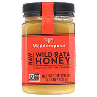 Дикий мед Рата, Wild Rata Honey, Wedderspoon Organic, 500 г.