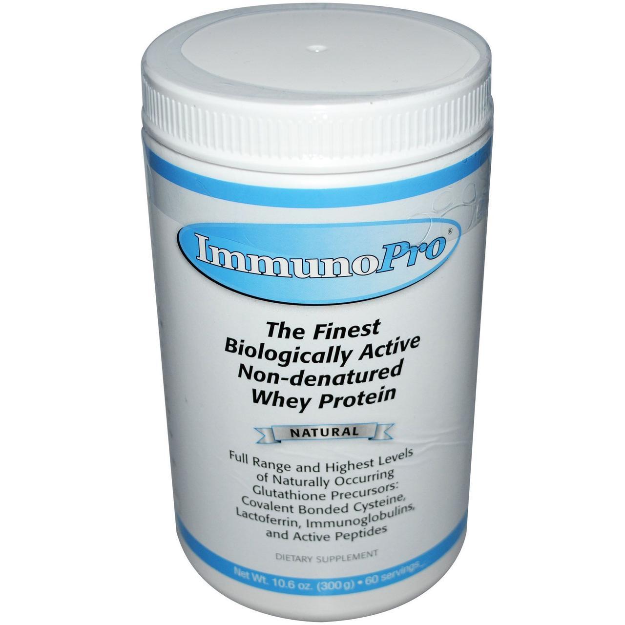 Well Wisdom, ImmunoPro, Неденатурированный сывороточный протеин, Натуральный, 10,6 унций (300г)