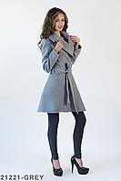 Трендове розкльошене пальто з кашеміру з широким відкладним коміром Cherie