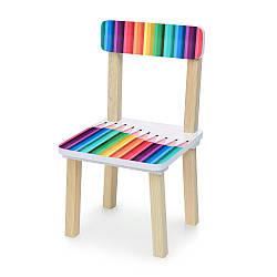 Стульчик 401-77 (1шт) ш30-г30-в51см, высота до сиденья 23см, сиденье ш28-г24см, карандаши