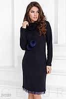 Платье с помпонами Gepur 24389