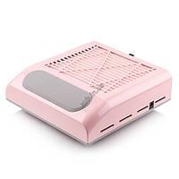 Витяжка для манікюру Simei 858-8 рожева з НЕРА-фільтром 80W