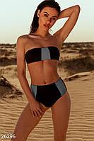 Двухцветный купальник-бандо Gepur 26296