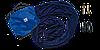 Гамак для повітряної йоги (аеройога) стрейчинг Fly-йоги темно-синій, фото 3
