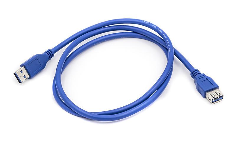 Кабель PowerPlant USB 3.0 AF-AM, 1 м