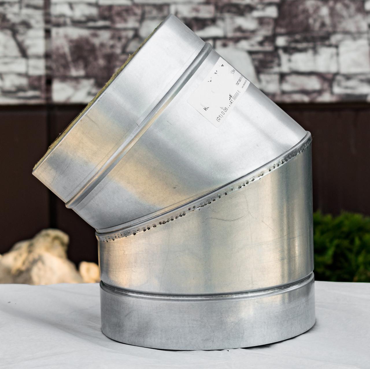 Колено дымохода 45° нерж/оц 1 мм 130/200