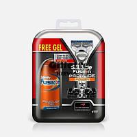 Набор  станок Gillette Fusion ProGlide Power на подставке + гель для бритья ProGlide  75 мл., фото 1
