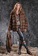Шуба полушубок из лесной куницы marten fur coat jacket, фото 1