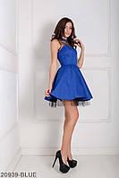 Чарівне лялькове плаття з фатином під спідницею і декольте ілюзія Margo