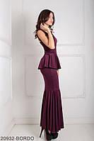 Вечірня сукня футляр з відкритою спиною і воланом на талії Andrea