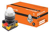 Лампа AL-22 сигнальная d22мм белый неон/230В цилиндр TDM