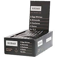 RXBAR, Протеиновые батончики, Шоколад и морская соль, 12 батончиков, 1,83 унции (52 г) каждый, фото 1