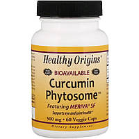 Healthy Origins, Фитосомный куркумин Meriva SF, 60 вегетарианских капсул