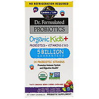 Garden of Life, Dr. Formulated Probiotics Organic Kids+ Shelf Stable, 30 Capsules