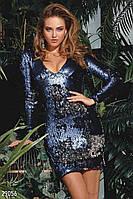 Платье-мини с пайетками Gepur 29056