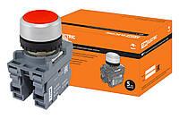 Кнопка MP1-20R в сборе d22мм 1з+1р красная TDM