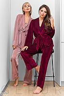 Пижама на запа́х винного оттенка Gepur 29363