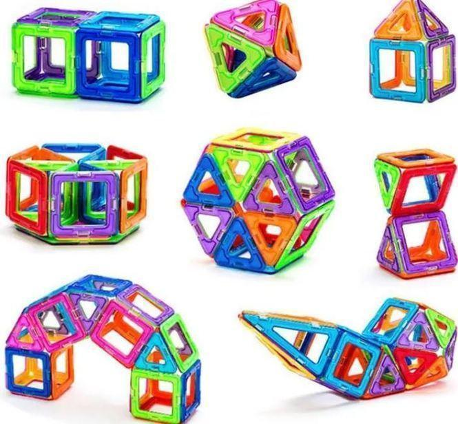 Детский конструктор | Конструктор на магнитах | Магнитный конструктор Mag Building 59 деталей